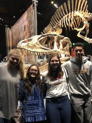 Sophomores Lauren Crook, Adalia Hayes, Kristin Gooding and River Minor enjoyed the Perot Museum during Thanksgiving break.