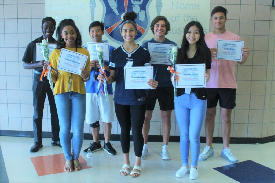 Junior+homecoming+prince+nominees%3A+Caleb+Potts%2C+Thom+Pham%2C+Hayden+McCallister+and+Collin+Azeez%0AJunior+homecoming+princess+nominees%3A+Kennedi+Patterson%2C+Brianna+Salazar%2C+Heather+Huynh+and+%28not+pictured%29+Michaela+Pelayo+