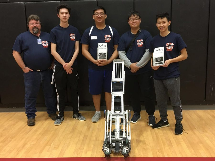 Team+Reborn%3A+Robotics+coach+Randy+Scrudder%2C+Mitchell+Shinn%2C+Alan+Tran%2C+Danny+Lee+and+Thom+Pham+%28not+pictured+Andy+Nguyen%29