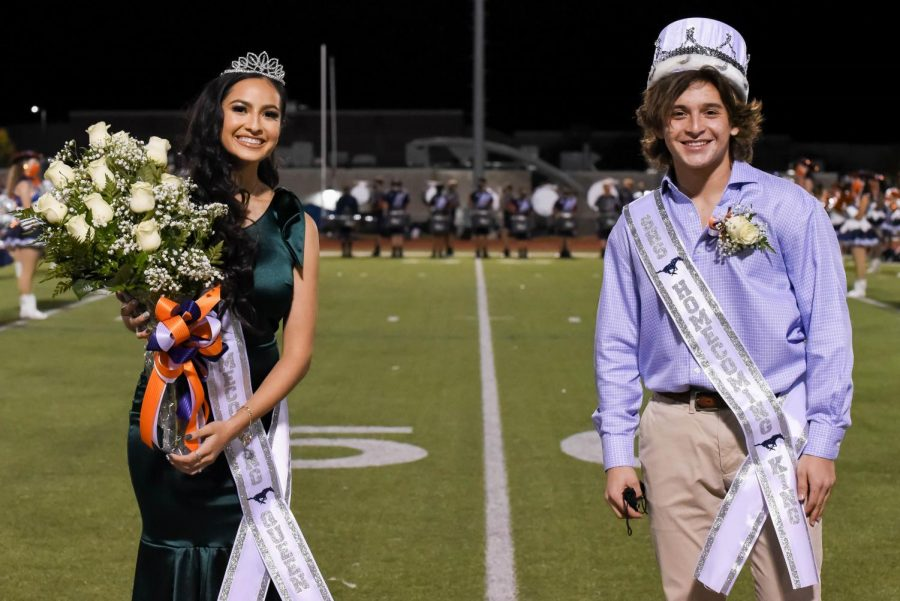 Homecoming Queen and King Brianna Salazar and Hayden McCallister